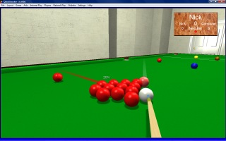 3D Quick Snooker screenshot